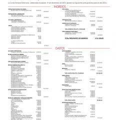 Presupuesto Ordinario 2014